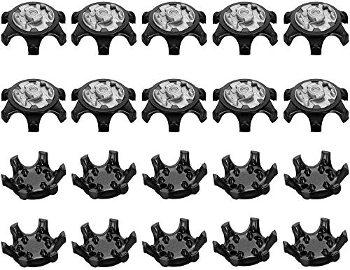 Gusnilo Easy Replacement Spikes Cleats Golf Shoes Black 20Pcs