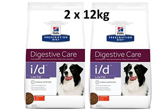 Hills Prescription Diet i/d Low Fat : 2 x 12kg Digestive Care Hundefutter mit Huhn