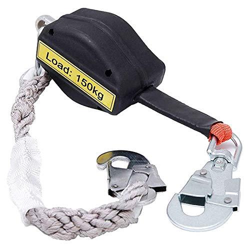 MSHK Cable De Línea De Vida Autorretráctil, Cordón para Herramientas Retráctil, Cordón De Protección contra Caídas Paratrabajos Aéreos En La Construcción De Techos HSGAV,20M