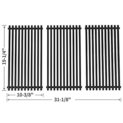 SHINESTAR Cooking Grate Grill Grid Replacement for Charmglow 720-0396, 720-0536, 720-0578, Brinkmann 810-8501-S, 810-8502-S, Kirkland 720-0108, 720-0432, JennAir, Nexgrill, Perfect Flame 720-0522 Part