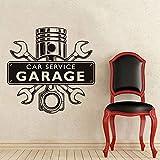 fdgdfgd Atelier de réparation Sticker Mural Service de Voiture Garage Mot Logo clé croisé Moteur Amovible décoration de la Maison Vinyle Sticker Mural