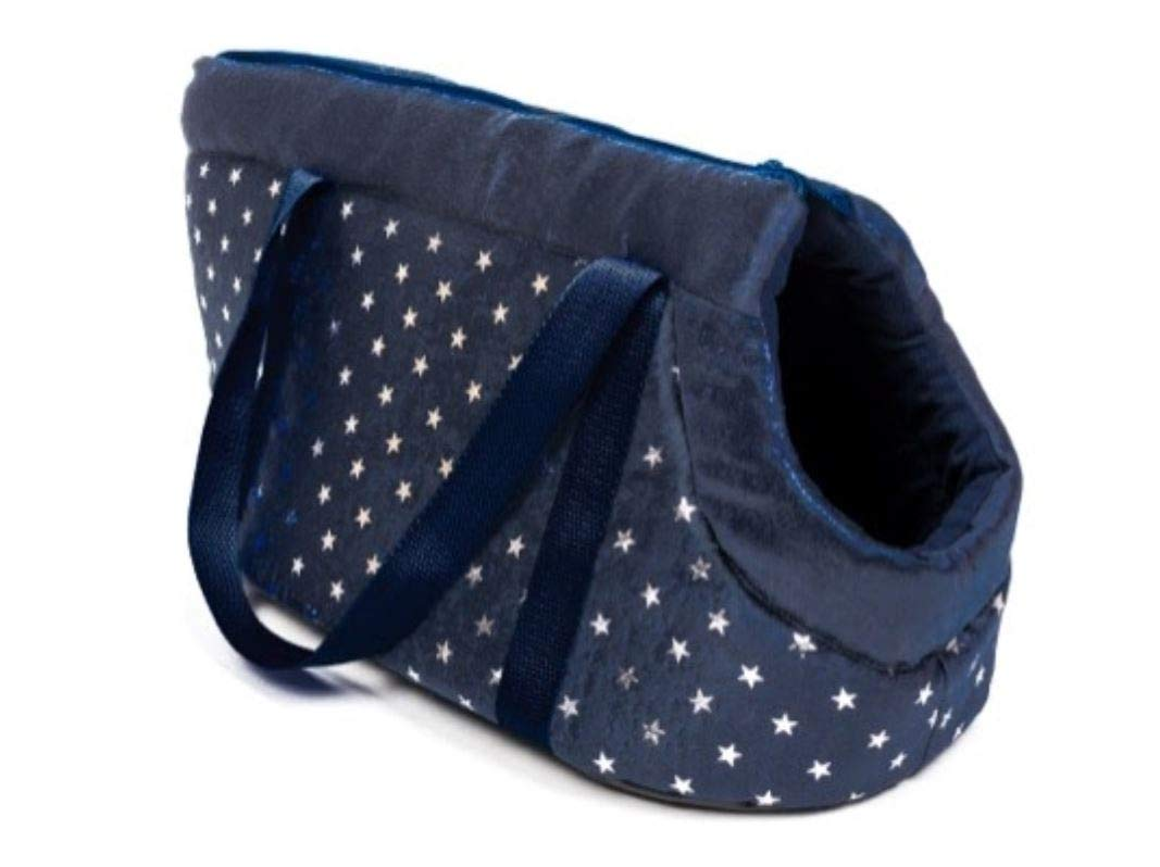 Ababy Wags N Whiskers Metallic Stars Navy Pet Carrier