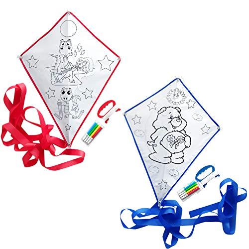 Bea\'s Party Set de 20 Cometas para niños Cometas para Pintar Cometas Infantiles para Colorear Detalles cumpleaños niños Boda Regalos comunion para Invitados Bautizo