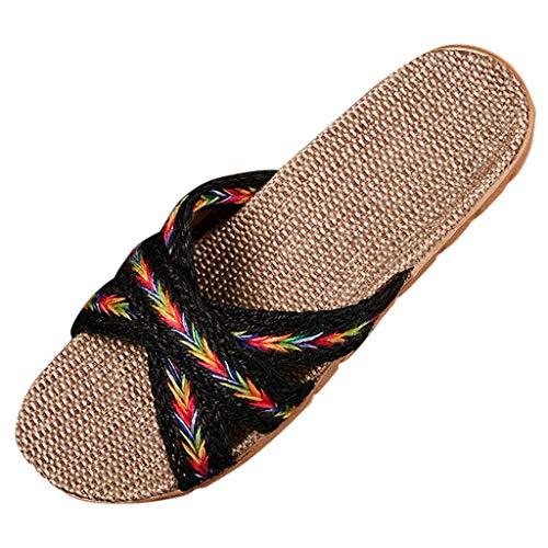 scarp plateau donna estiv ciabatt slide uomo scarp comod donna moda estiv donna ciabatte eleganti sandali con zeppa verdi (Multicolor,35)