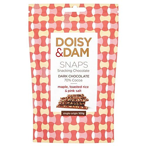 Doisy & Dam Maple, Toasted Rice & Pink Salt Snaps 100g