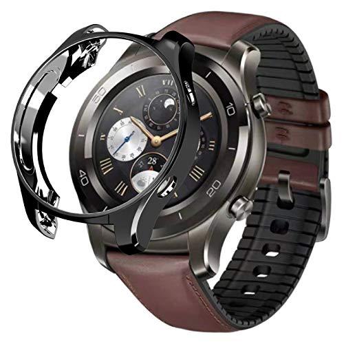PANGTOU Carcasa protectora para Huawei Watch 2 Pro chapado de TPU medio paquete