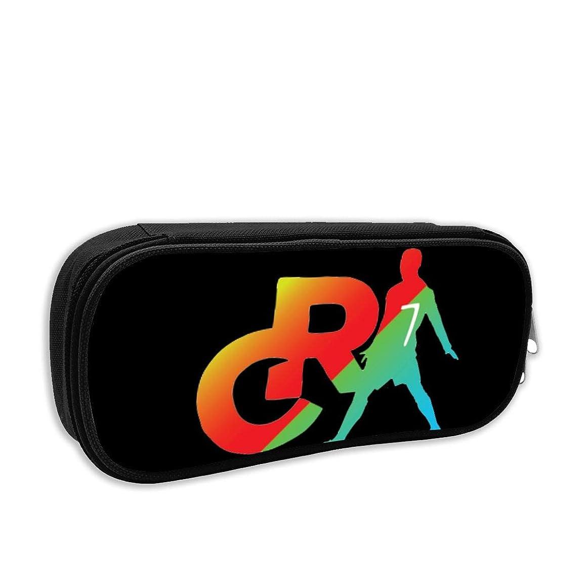 熱意左自分のためにCR7 Logo 筆箱 ペン立て大容量 ペンを包んで 多機能 文具収納 文具ケース Black