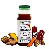 Trago para Refuerza el sistema inmunitario ORGANICO I Vitamina C de acerola orgánica I Con jengibre, cúrcuma, lúcuma, etc. I Como refuerzo inmunológico y antiinflamatorio (250ml)