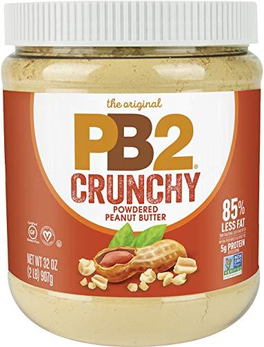PB2 Crunchy Powdered Peanut Butter - Peanut Butter Powder with Small Crunchy Peanut Pieces [2 Lb/32oz Jar]