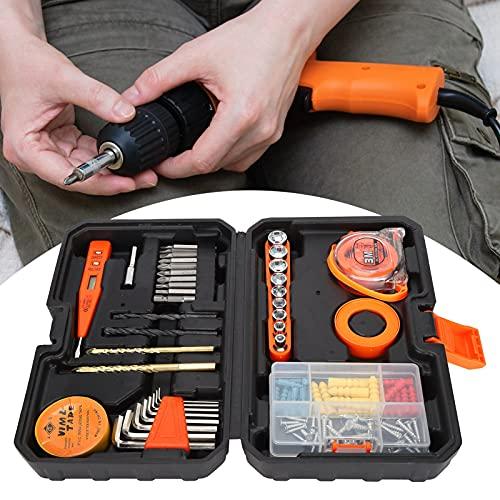 Kit de herramientas de reparación del hogar, kit de herramientas de mano portátil para el hogar para bricolaje para reparaciones de la casa para tareas de reparación
