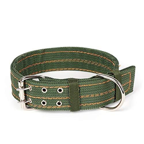 CHUKESM Collarstrong Hundehalsband aus Segeltuch, Nylon, zweireihig, verstellbare Schnalle, für mittelgroße und große Hunde