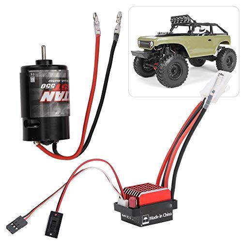 Dilwe ESC RC Brushed Motor, 360A Brushed Electronic Geschwindigkeitsregler + 550 Brushed Motor 1:10 RC Car Upgrade Ersatzteil(35T)
