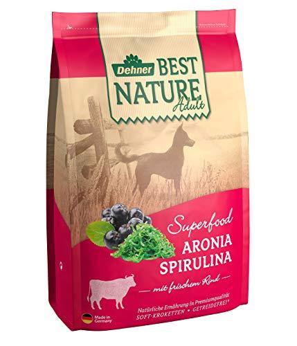 Dehner Best Nature Hundetrockenfutter Adult, Superfood, Rind mit Aronia und Spirulina, 4 kg