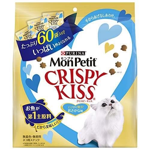 モンプチ クリスピーキッス 贅沢おさかな味 180g(3g×60袋) [猫用おやつ]
