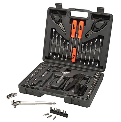 Performance Tool W1193 SAE/Metric 119 Piece Multi-Use Tool Set, General Household Hand Tools, Auto Repair Tool Set, with Plastic Toolbox Storage Case