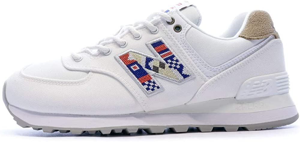 New Balance Baskets Blanches Femme WL574 : Amazon.fr: Chaussures ...