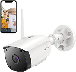 Cámara de Vigilancia WiFi Exterior/InteriorCACAGOO Cámara IP WiFi HD 1080P Seguridad Compatible Alexa Impermeable IP66 2.4Ghz Audio bidireccionalDetección de Movimiento Visión Nocturna