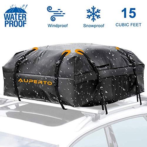 AUPERTO Dachbox Schwarz und Wasserdicht Dachbox Auto von Vault Cargo Management - 425 Liter Kapazität - Gepäckbox Dach