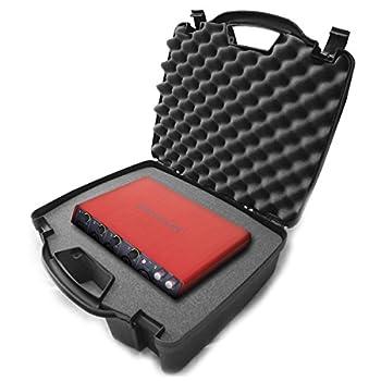 Casematix Studio Travel Hard Case Compatible with Studio Usb Desktop Stereo Recorders Focusrite Scarlett 2i2  6i6  2i4  18i8  Solo Compact Usb Audio Interfaces and Recording Accessories
