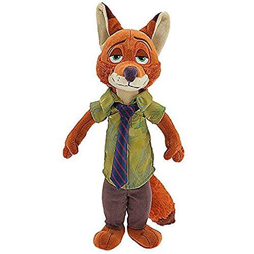 Zootopia Plush Toys Rabbit Judy Hopps Nick Wilde Police Women Soft Stuffed Animals Kids Toys Gifts Brown