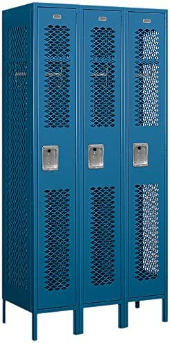 Salsbury NEW Industries Assembled Max 55% OFF 1-Tier Vented Locker Th with Metal