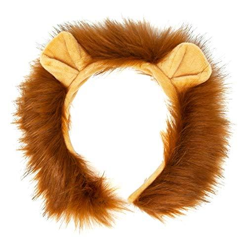 Oblique Unique Haarreifen Löwe mit Ohren und Mähne Löwen Haarreif mit Haaren für Fasching Karneval Motto Party Löwenkostüm Kostüm Accessoire