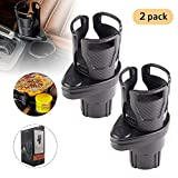 2 in 1 Multifunctional Car Cup Holder, 360° Rotating Adjustable Car Cup Holder Expander Adapter Divided into Two Car Cup Holder Base to Hold Most 17oz - 20 oz Bottles Drink Coffee up to 5.9' Inch