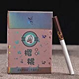 HUWOYMX Green Tea Herbal Cigarettes Peony Tea Smoke, Chinese Herbal Cigarettes Smoke-Free and Nicotine-Free, Cigarette Substitutes That Can Clean The Lungs (1 Package,Cherry)
