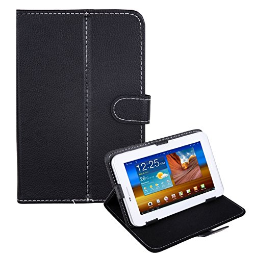 """HDE Universal 7"""" Leather Tablet Case Cover Protective Folding Folio Stand (Black)"""