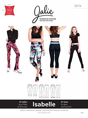 Jalie Schnittmuster 3674Isabelle - für Damen und Mädchen: Leggings und Skatinghose