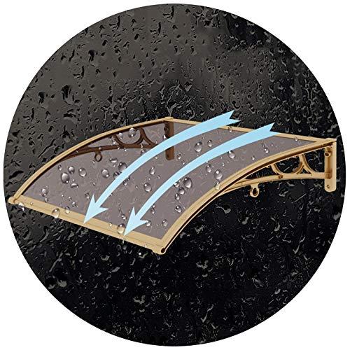 Marquesina Toldo, Cubierta Patio Parasol Parasol Parasol, Soporte Aleación Aluminio Duradero Antioxidante, Soporte Champán, Personalización Tamaño PENGFEI (Color : A, Size : 80cmx100cm)