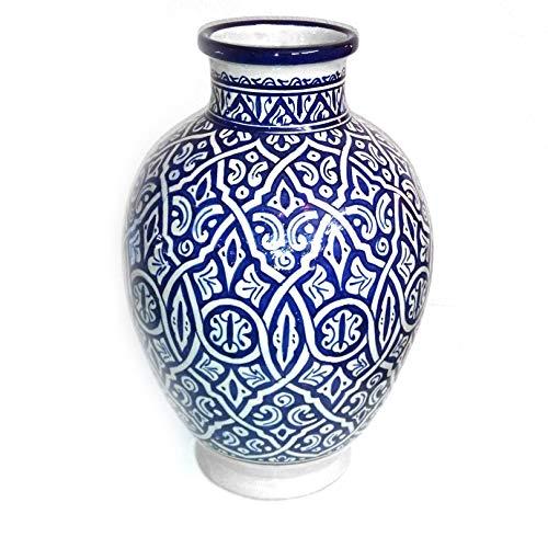 Marokkanische Vase blau | Orientalische Vasen und Dekogegenstände| Orientalische Dekoration | Dekoartikel aus dem Orient