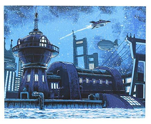 "Futurama ""Good News Everyone 8x10 Art Print by Tim Doyle (Nerd Block Exclusive)"
