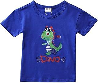 Peony Baby Toddler Boys T-Shirts Tops Tees Cartoon Prints Crew-Neck Short-Sleeves 2T - 6T
