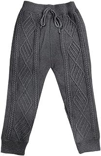 HOSD Ropa para niños Pantalones para niños Cuerda Trenzada línea de algodón otoño e Invierno cálido más Pantalones de Terc...