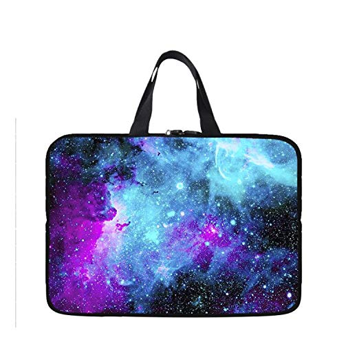 11.6-12 Inch Chromebook Laptop Neoprene Sleeve Case Bag Handle Compatible with HP ProBook x360 11.6'/Dell Chromebook 11-5190/Lenovo Chromebook C330 C340 300e/Acer SP111-33(Galaxy Blue Space)