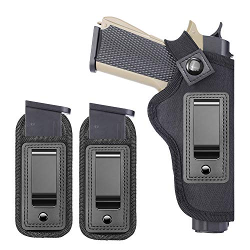 TACwolf 1911 IWB Nylon Gun Holster Magazine Fits Most 1911 Style Pistols - Kimber - Colt - S & W - Remington - Sig Sauer and More Right Hand