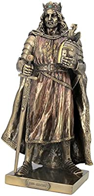Unicorn Studios Bronze Finish King Arthur of Camelot Statue Figurine Mythology
