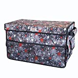 GxNI Collapsible Cargo Container Organizer Storage with Straps Multifunctional Trunk Storage Finishing Box