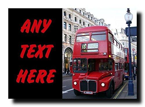 London Bus Gepersonaliseerde Jumbo Magneet