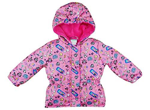 Disney Minnie Mouse Mädchen Baby gefütterte Winterjacke Wintermantel Parka Outdoor Allwetter mit Kapuze WARM und wasserdicht Winddicht Gr. 74 80 86 92 98 Größe 74