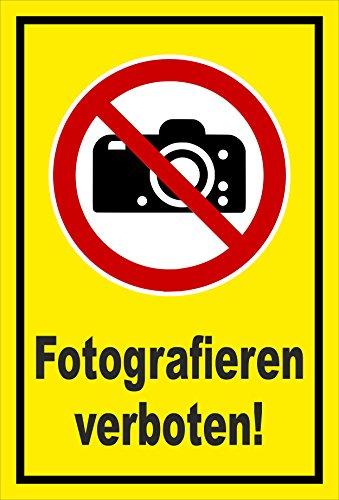 Melis Folienwerkstatt Adhesivo Señal De Prohibido–Fotografía. Cámara photographieren–entspr. DIN ISO 7010/ASR a1.3–s00355–033de c + + + en 20Variantes.