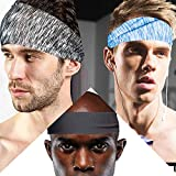 tEEZErshop Sport Stirnbänder für Fitness Training zu Hause, Herren Joggen Wicking Haarband mit...