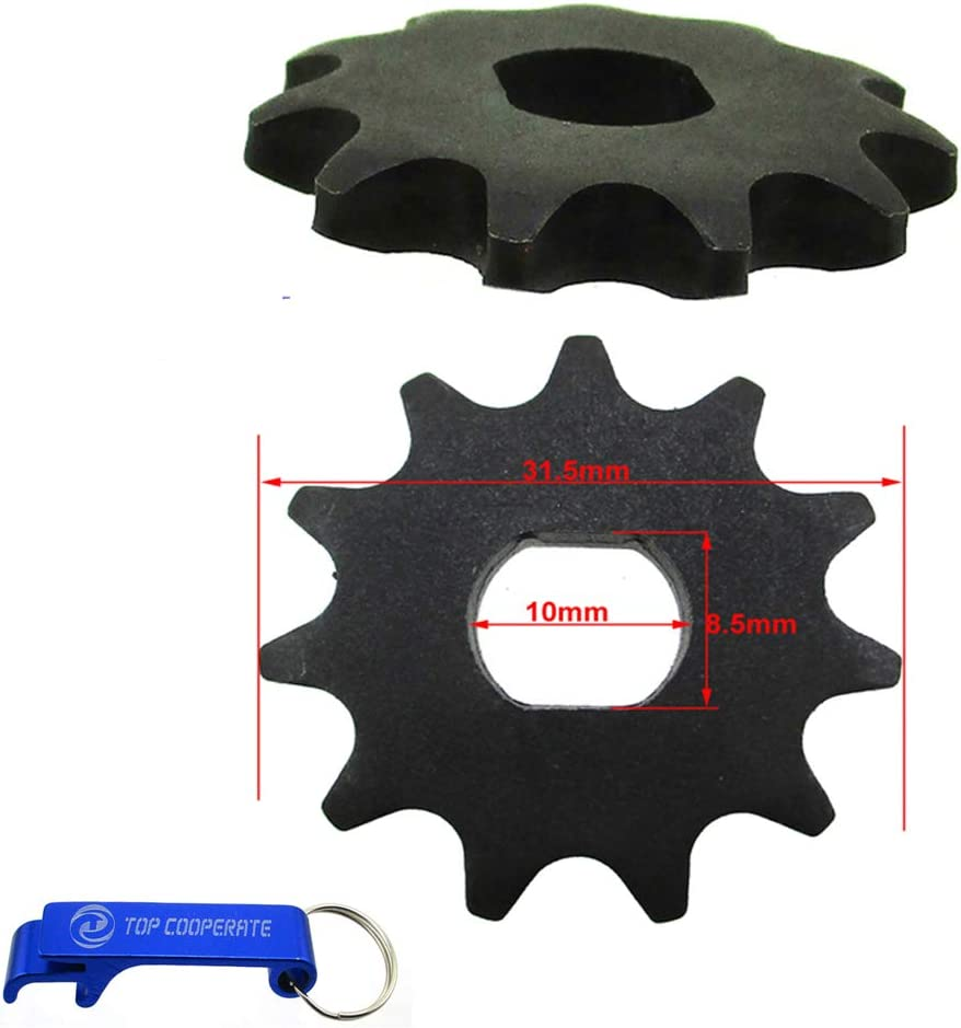 TC-Motor 2pcs T8F Chain 11 Tooth Ge Pinion Ranking Max 66% OFF TOP20 Sprocket Engine Motor