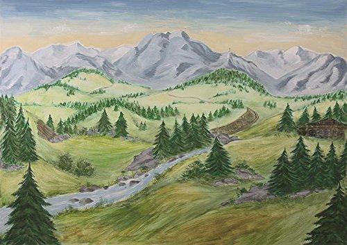Krippenzubehör, Hintergrund Tanne 70 x 100cm (44635095296)
