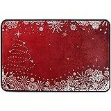 Taoshi Los Copos de Nieve para Navidad Felpudo, Sala de Estar Dormitorio Cocina baño Decorativo Ligero Impreso Alfombra