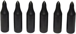 Huntingdoor Traditional 100Pcs Black Metal Archery Glue On Field Points Practice Point Arrow Tips 5/16'' 75 Grain