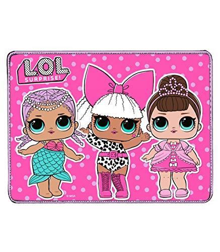 L.O.L. Surprise! - Mantel individual de algodón al 50 % y poliéster al 50 % para que los niños coman en la escuela ⭐