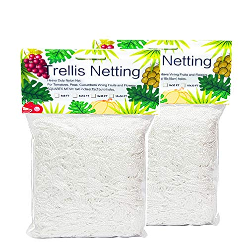 Trellis Netting HeavyDuty 5 x 15ft Polyester Plant Trellis Netting Support for Climbing Vining Plants 2 Pack