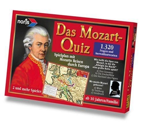 De Mozart Quiz - een spel dat plezier geeft en waarbij je veel kan leren leren kennen. Voor 2-6 spelers. Geschikt voor kinderen vanaf 10 jaar.